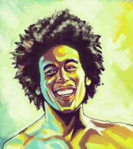 Test de couleur sur Bob Marley marley-268x300
