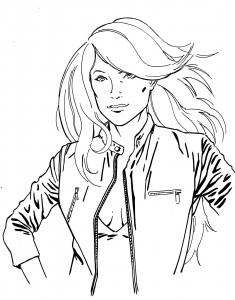 Un autre essai sur « Julie Wood », les cheveux dans le vent. dans BD tetenet2-235x300